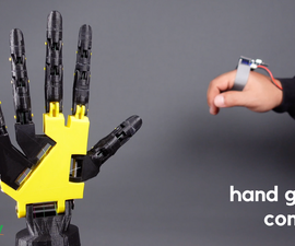 Hand Gesture Controller for Robotic