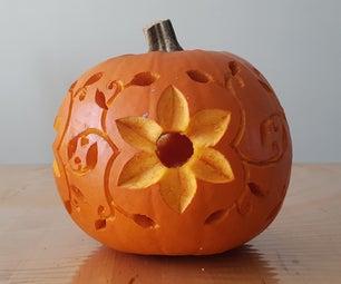 Flower Pumpkin Carving