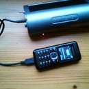DIY solar charger for mobile phone charger flashlights.