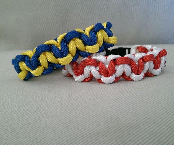 Hearts Paracord Bracelet