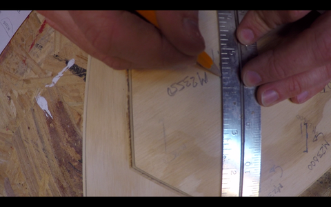 Drilling Holes for the Connection and Knife Slots