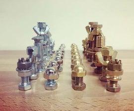 DIY国际象棋与紧固件