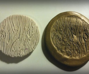 Polymer Clay Woodgrain Stamp