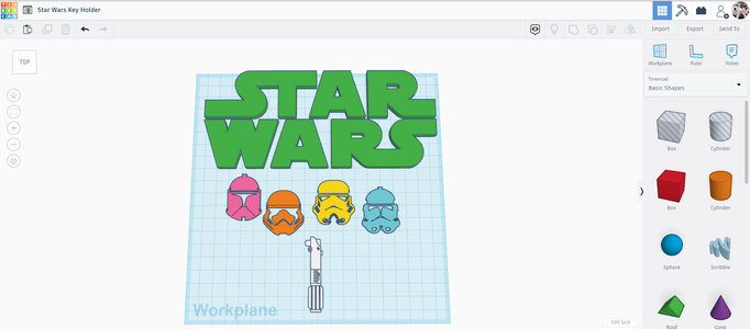Importing the SVG Files to Tinkercad