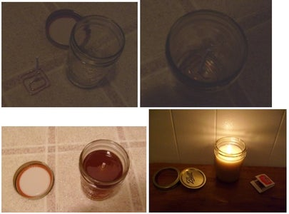 Making a Paper Wick Tallow Candle