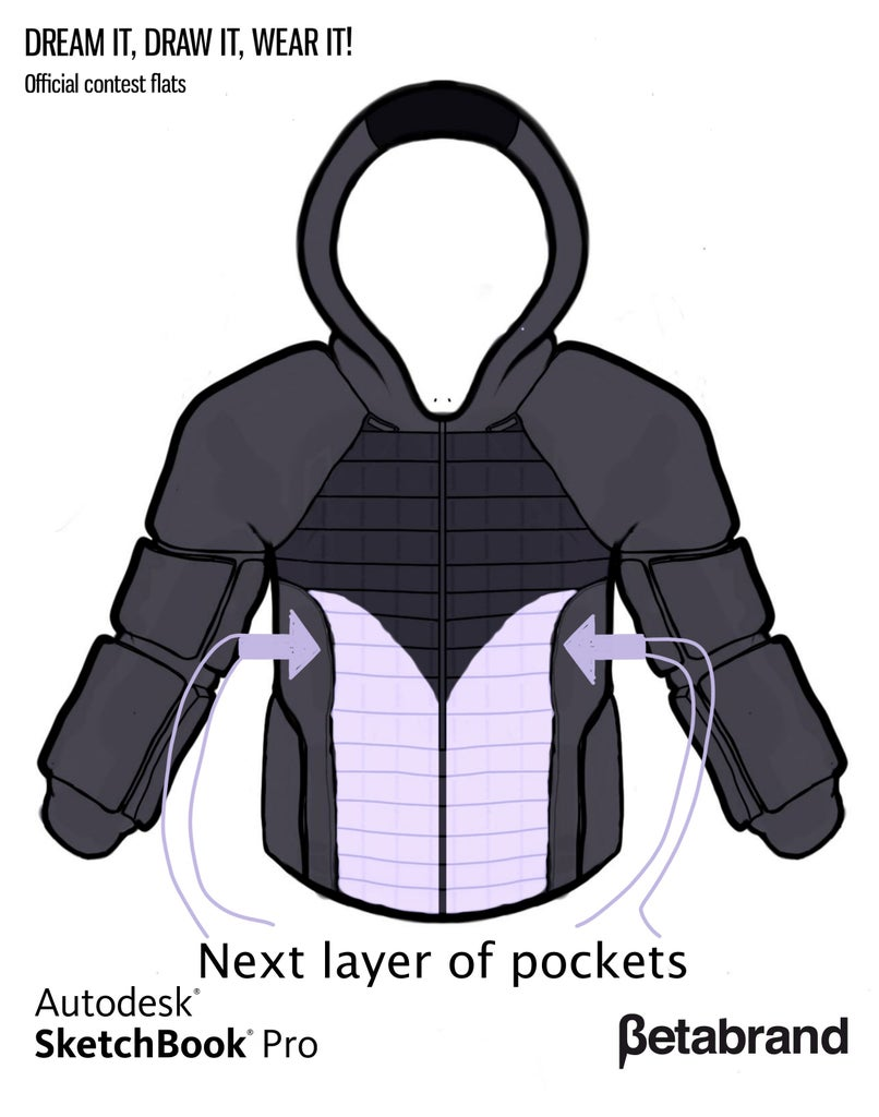 Detailed Description of Hoodie [Middle Front Pocket]