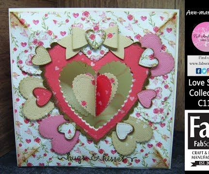 The Love Story 3D Hanging Heart Card
