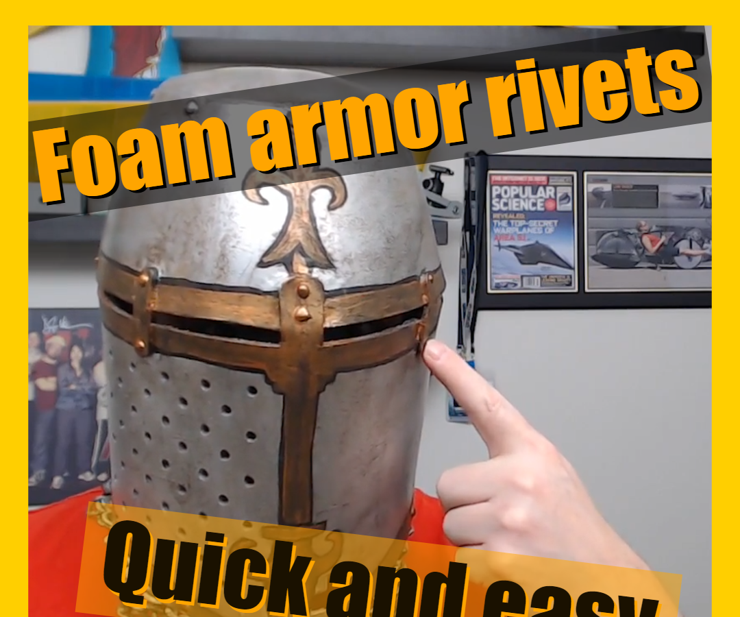 Easy Foam Armor Rivets for Cosplays With a Glue Gun