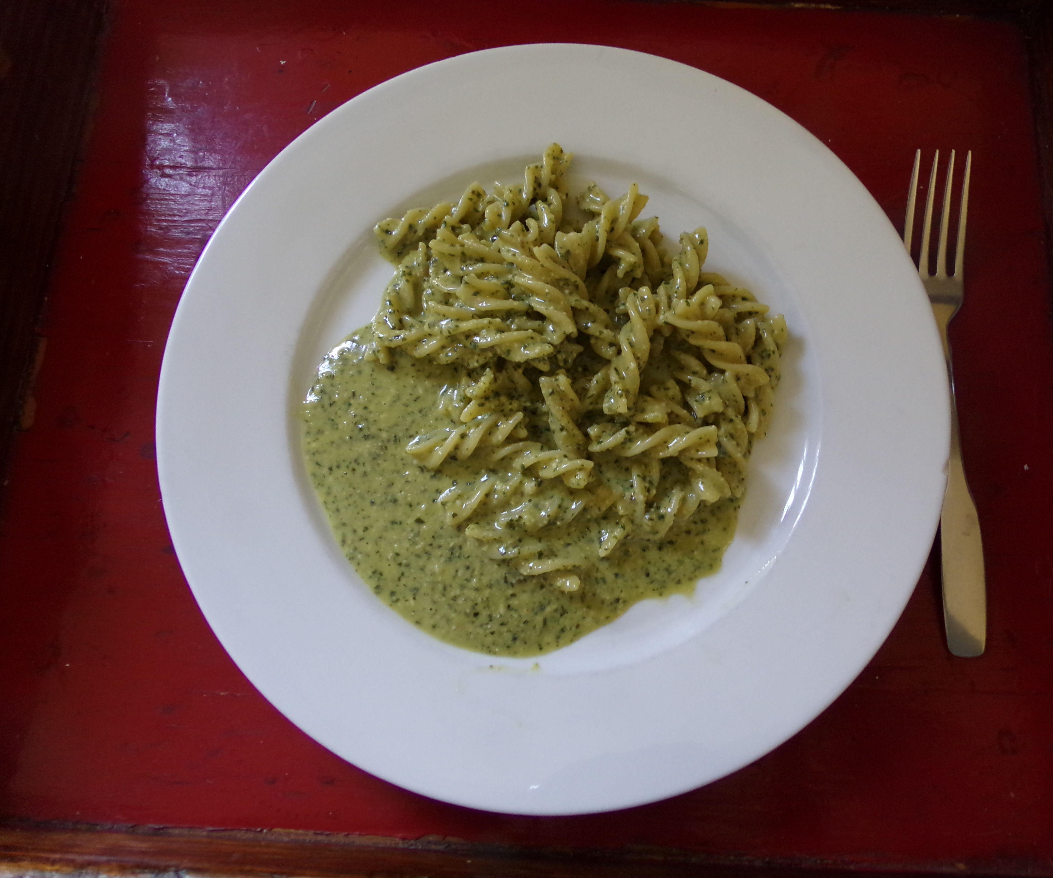 Creamy Basil Pesto Spagetti Sauce