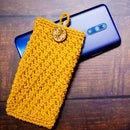 Textured Crochet Mobile Pouch