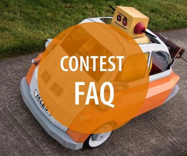 Instructables Contest FAQ