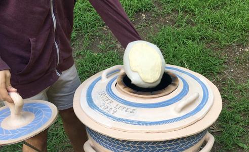 Using the Tandoor for Naan