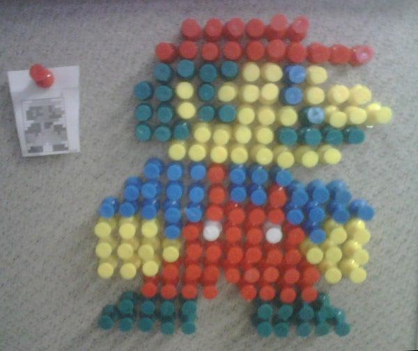 Push Pin Mario Sprite