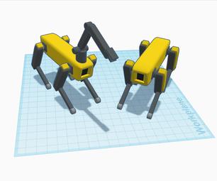 Boston Dynamics Robot Dog in Tinkercad