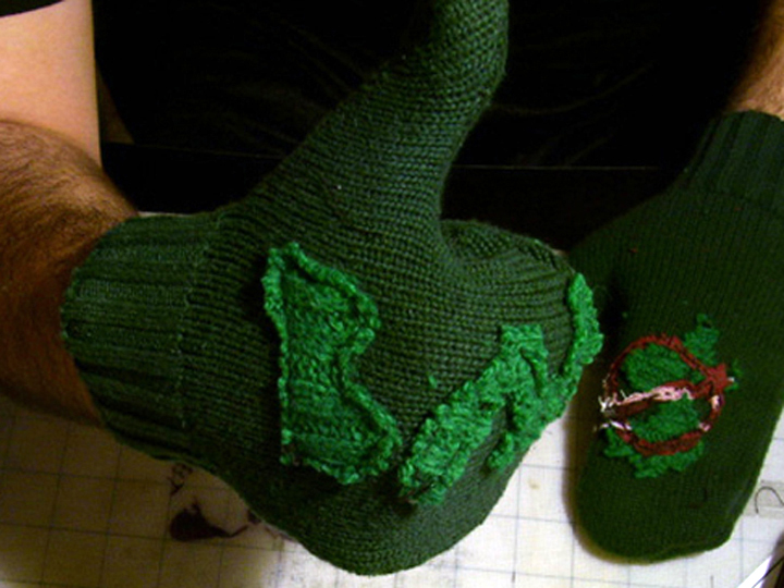 Make Mittens From Used Sweater