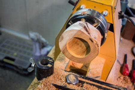 Woodturning the Ear Pieces