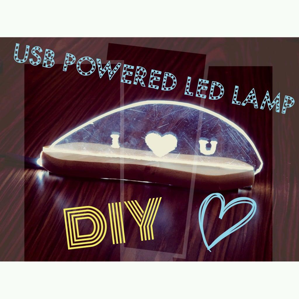 DIY Perspex LED Desk Lamp
