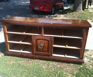 Dresser to Entertainment Stand Conversion