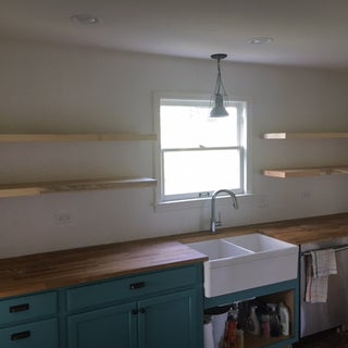 Live Edge Floating Shelf With Invisible Hardware