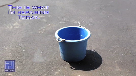 How to Repair a Cracked / Broken, Bucket or Trash Can