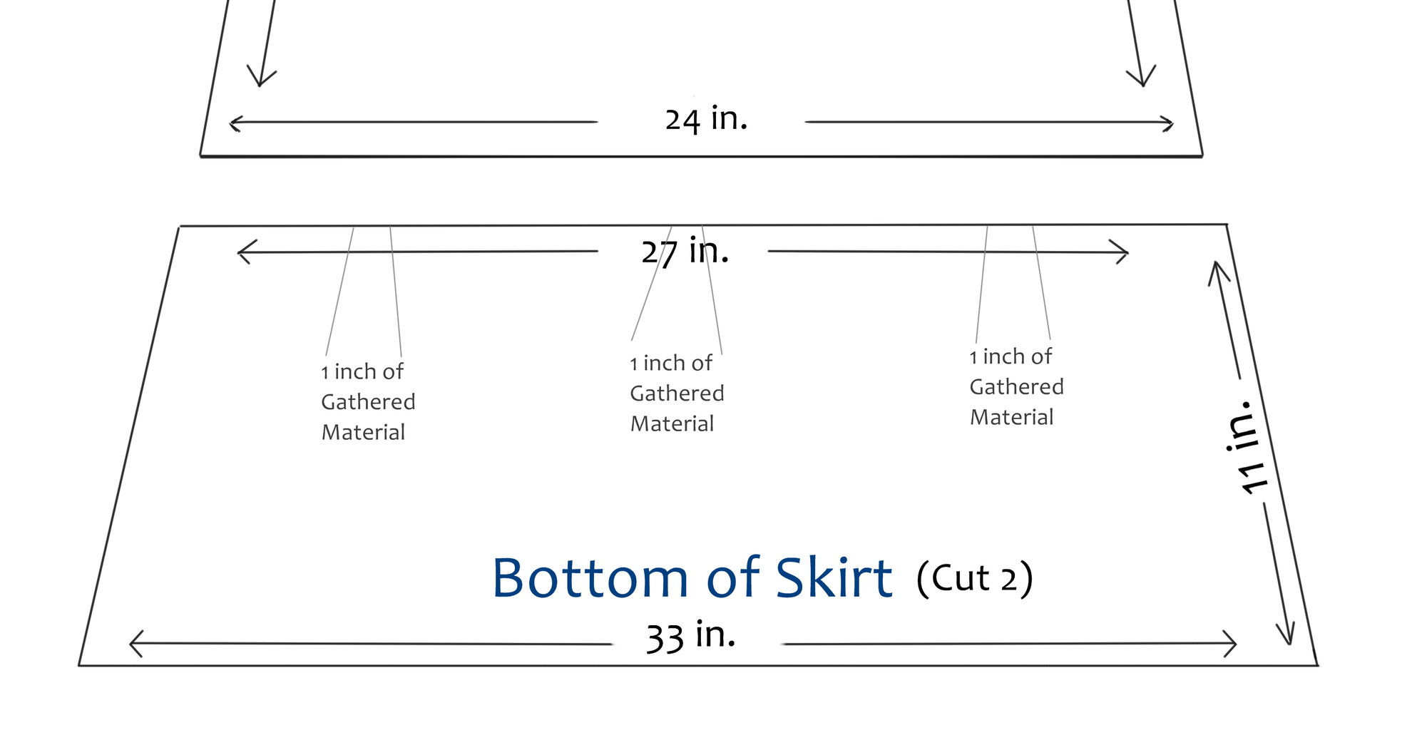 Sewing Bottom of Maxi Skirt to Top