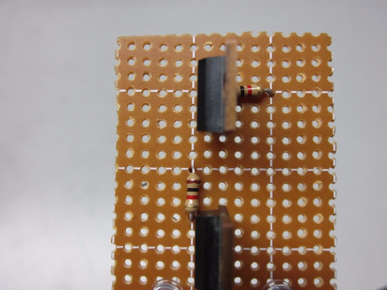Solder the Base Resistors