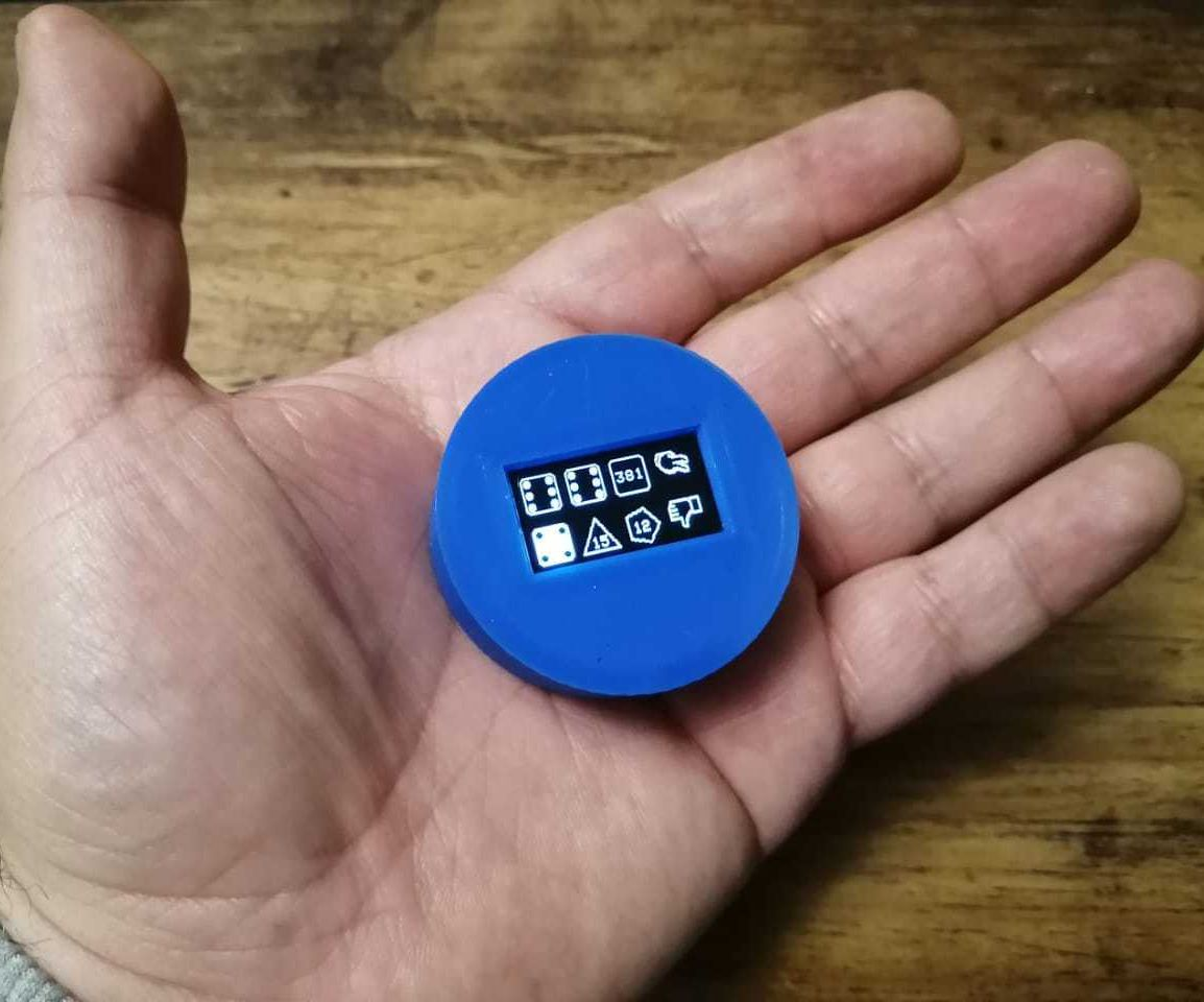 Fully IR Customizable Eight-dice Set