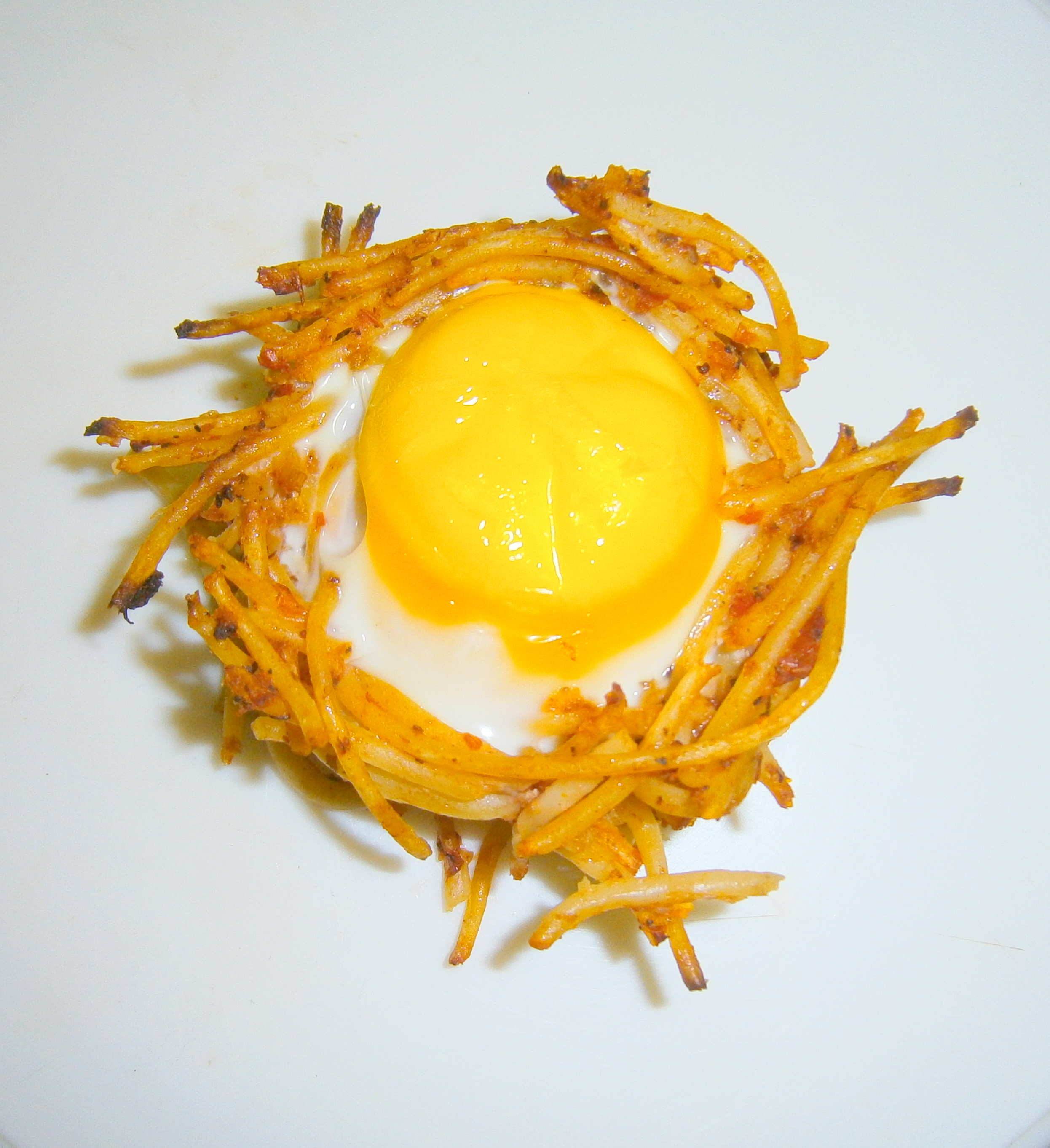Spaghetti Egg Bird's Nest