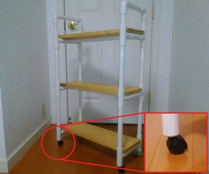 Caster Mounting Example of Water Pipe Furniture