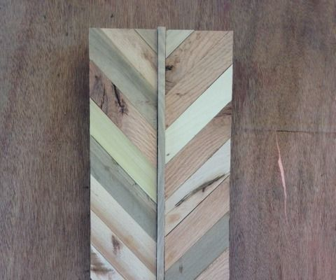 Wooden Chevron Wall Hanging