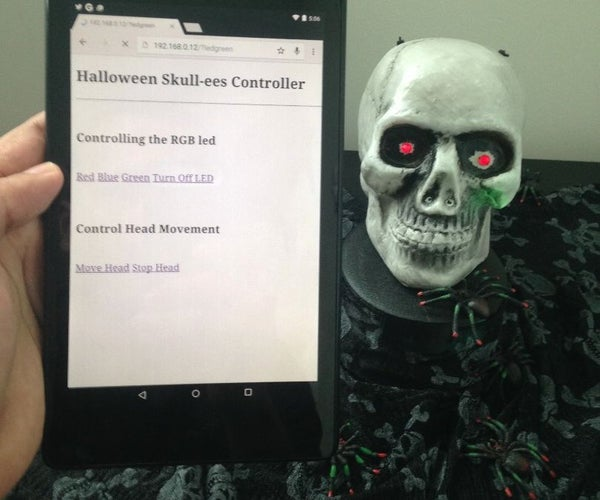 Spinning Skull Controlled by Web App