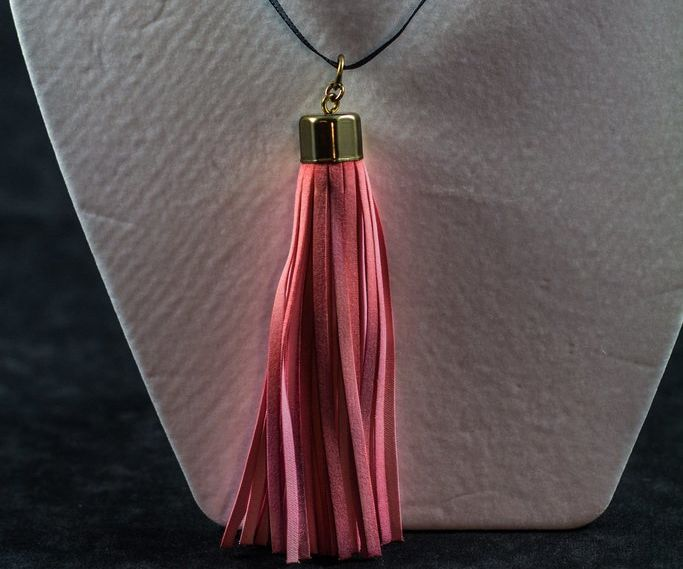 Transforming A Shower Curtain Tassel into Jewelry
