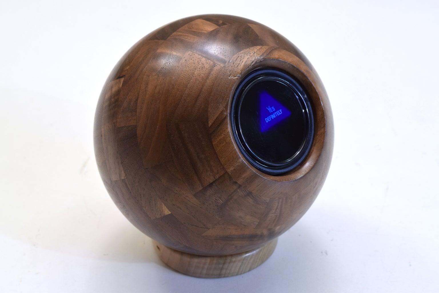 Wooden Magic 8-Ball