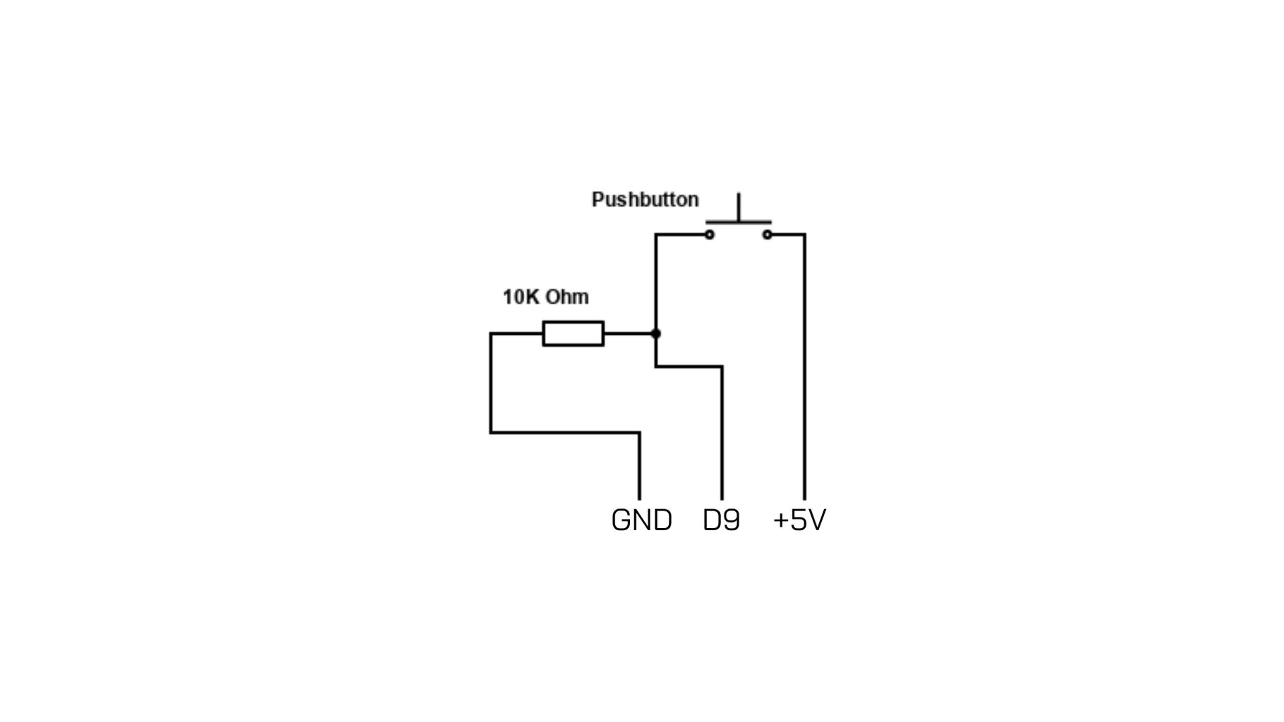 Small Circuit Board for the Pushbutton