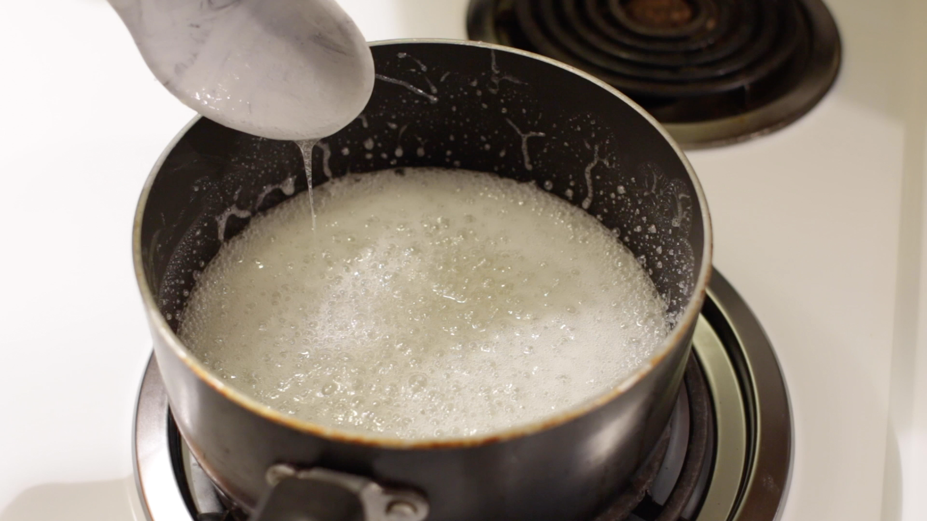 Heat the Sugar and Corn Syrup