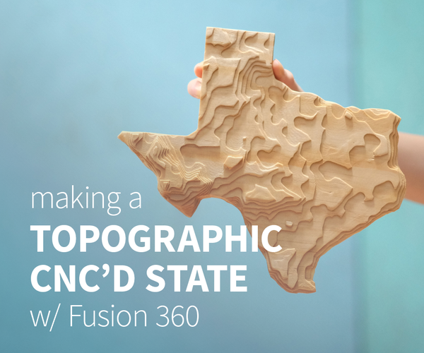 CNC Topographical Wooden State