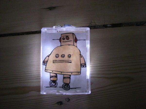 The LED Illuminated Photo Frame Fridge Magnet