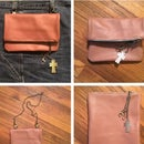 All In One Leather Make-Up Bag, Shoulder Bag and Belt Loop Purse