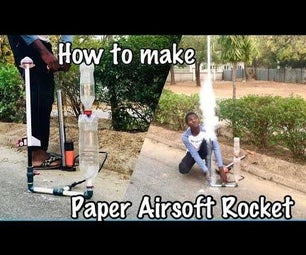 Powerful Paper Airsoft Rocket With Parachute