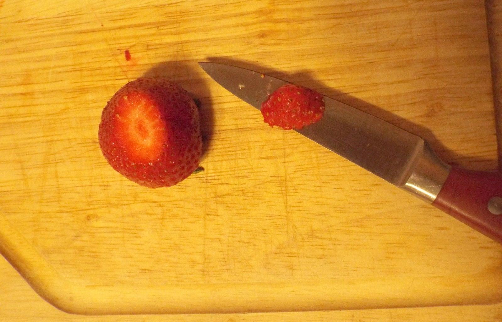 Prep the Strawberries
