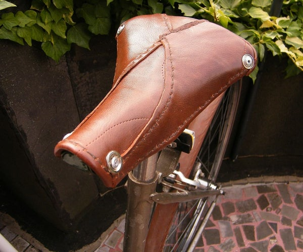 Bicycle Saddle Transformed and Made of Old Leather Shoes