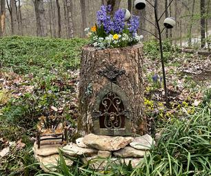 Fairy House Log Planter