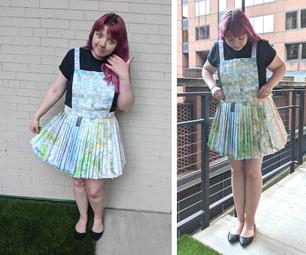 Paper Map Pinafore Dress