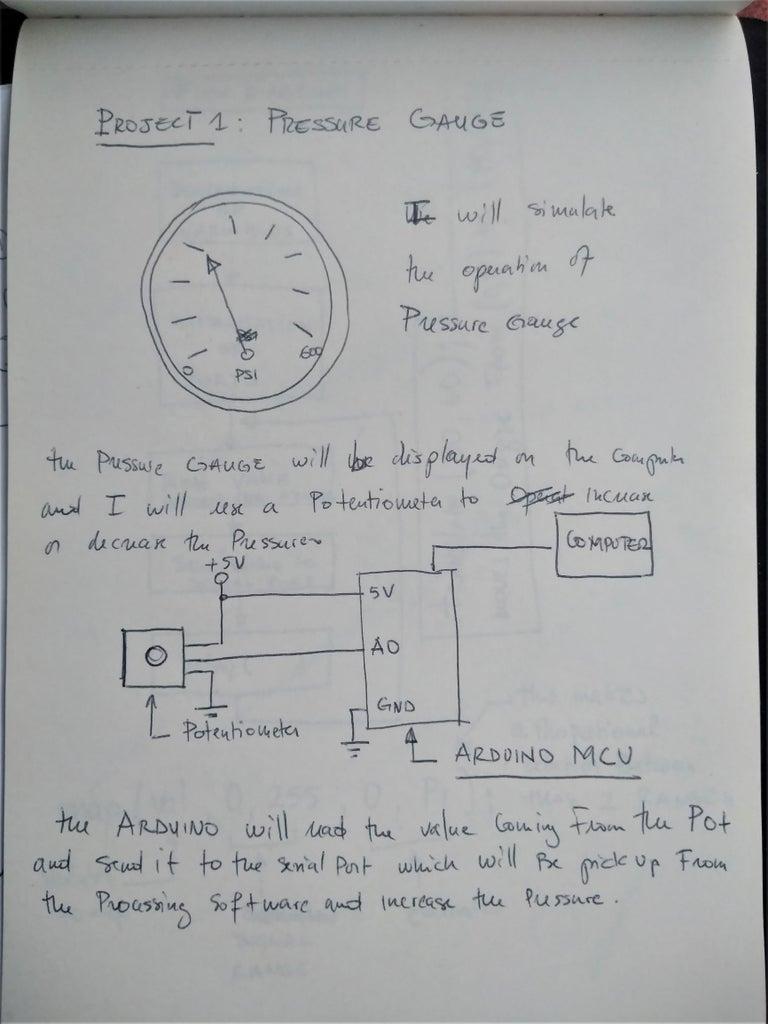 Step 1: Potentiometer Circuit With Arduino.