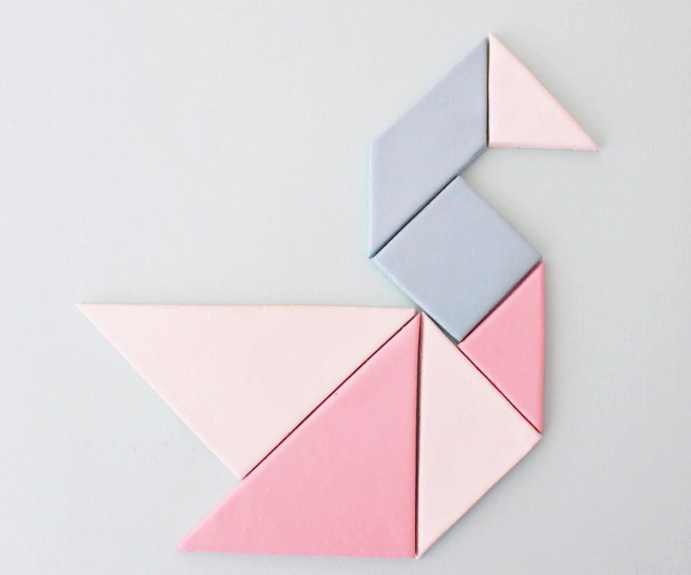 Airdry Clay Tangram Magnets