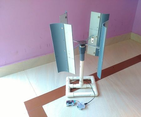 How to Make Small Wind Turbine (Vertical axis)