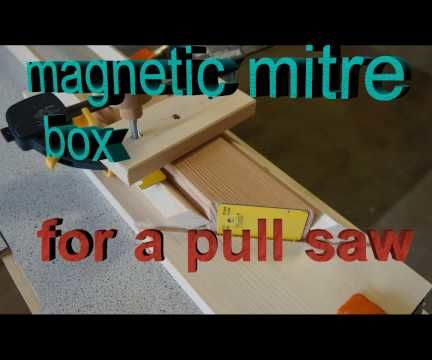 Magnetic Mitre Box for a Japanese Pull Saw