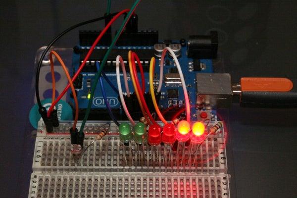 Arduino Light Sensitive Bar Graph