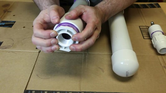Prime and Glue the PVC Components