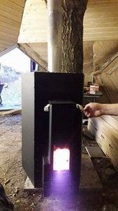 Welding the Sauna Rocket Stove